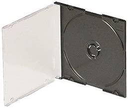 Americopy 5.2mm Slim Jewel Cases - (100, Black)