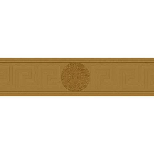 Cenefa estilo barroco barroco oro 935222 93522-2 Versace Versace 1 | oro | Rollo (5,00 x 0,13 m) = 0,65 m²