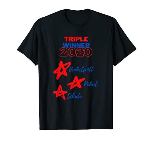 Copa del triple, ganador del fútbol de Bayern de Múnich 2020, trofeo con estrellas Camiseta