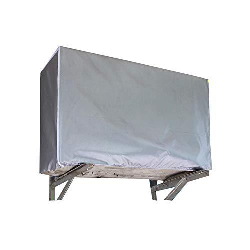 LJIANW Copertura Mobili Giardino Piazza Condizionatore Copertina Resistente agli Agenti Atmosferici Rivestito in PVC All'aperto Cover Universale, 4 Taglie (Color : Silver, Size : 100x41x80cm)