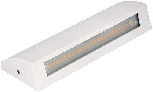 LED 7 W Slim aluminio fundido lámpara de pared IP54 – UP-DOWN-Light – para escaleras, pasillos, fachadas de casa, blanco cálido (3000 K)