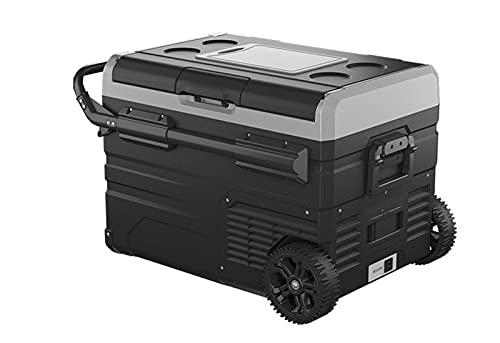 DSBN Refrigerador de RV, Frigorífico de Camiones Yates, Control de Temperatura Inteligente móvil Refrigerador de refrigeración rápida, 50L, Fuente de alimentación de Voltaje de vehículos de 12V / 24V