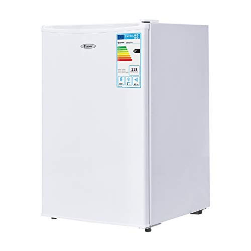 COSTWAY Kühlschrank mit Gefrierfach Minikühlschrank Standkühlschrank Kühl-Gefrier-Kombination Hotelkühlschrank/A+/ 123L
