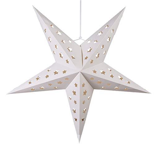 Bada Bing Papierstern Stern Dekostern Weiß Ø ca. 56 cm Stabiles Beschichtetes Papier 94