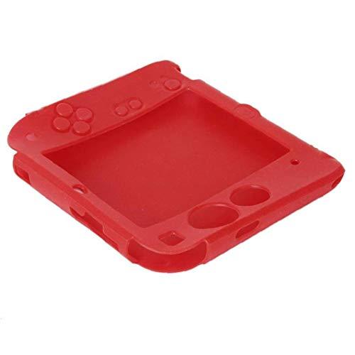 Rrunzfon Reemplazo de Silicona Caso Protector de la Piel Cubierta de Gel Juego Compatible con el Juguete del Juego de Nintendo 2DS Rojo 1pc vídeo