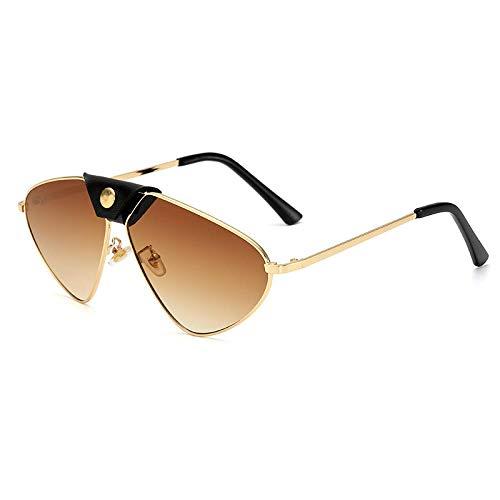 Gafas de sol de moda de las mujeres de los hombres de diseño de lujo vintage de metal gafas de sol gradiente gafas de sol