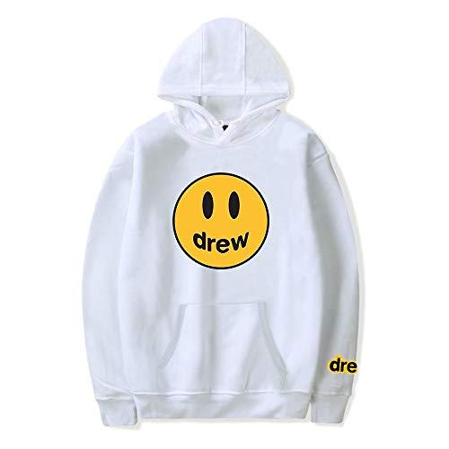 WAWNI Justin Bieber Drew Hoodies Sweatshirt Damen Herren Hip Hop Kapuzenpullover Kleidung Streetwear Sweatshirt Gr. XS , 5