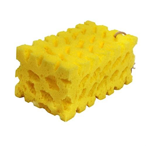 Extra Grande Coche Motocicleta Lavado Esponja Coral Absorbancy Sponge Lavado Limpieza Bloque de Limpieza Honeycomb Sponge Lavado Limpieza Herramientas (Color : 1pc)