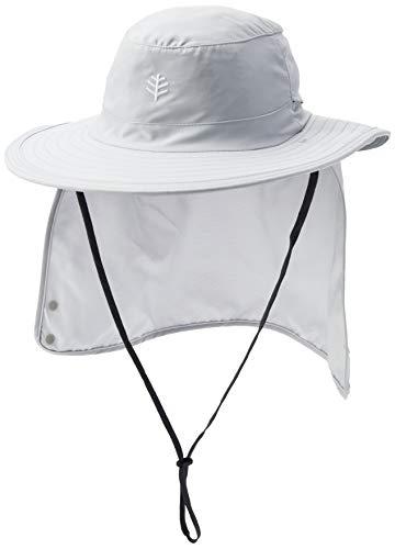 Coolibar UV-Schutz Hut Mit Versteckbarem Nackenschutz, Grau, M/L