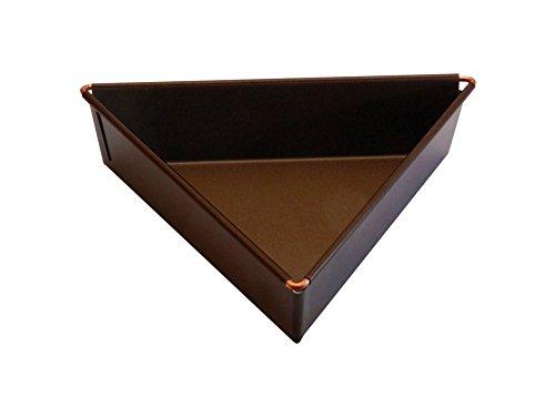 Gobel 218910 Moule à Manqué Triangle Anti-Adhérent Bordé Hauteur 3,5 cm