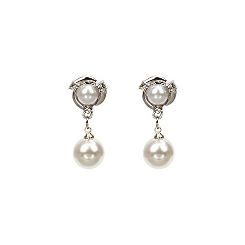 Mädchen 'Herzen handgefertigte Ornamente modische Figuren Wildrose Perle Ohrringe Blumen kurze barocke Ohrstecker Silber