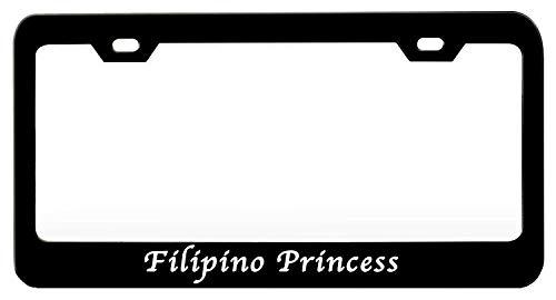 TOPPAEC Filipino Princess Girly 1 Personalized Custom License Vanity PlateCar Tag Multi Color License Plate Beautifully Designed