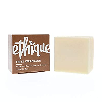 Ethique Eco-Friendly Solid Shampoo Bar for Normal-Dry or Frizzy Hair, Frizz Wrangler - Sustainable Natural Shampoo, Non-Soap Based, Vegan, Plant Based, Compostable & Zero Waste, 3.88oz