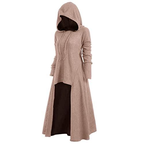 Damen Mittelalter Kleid Halloween Party Kostüm Renaissance Maxi Kleider Kostüm Damen Damenkostüm aufwändiges Kleid mit Haube Mittelalter Romantik Elfe Gotik Gothic Burgfräulein