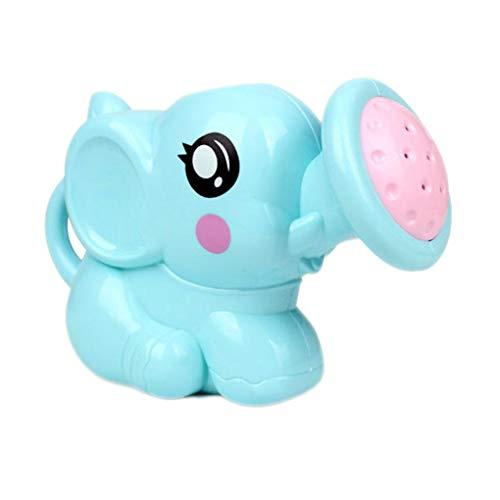 F-blue Juguete de baño recién Nacido plástico Elefante regadera Juguetes para el baño natación del bebé baño Ducha Spray Herramienta Agua Juguetes(Color al Azar)