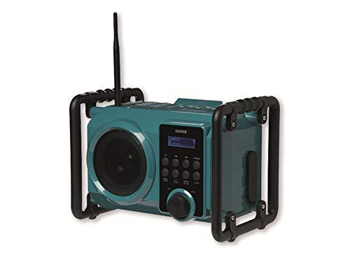 Radio para obra DENVER WRD-50. Sintonizador de radio digital DAB+ y FM. Conexión Bluetooth, USB y entrada AUX. Muy robusta. Salida de volumen: 5W. Batería recargable o alimentación eléctrica.