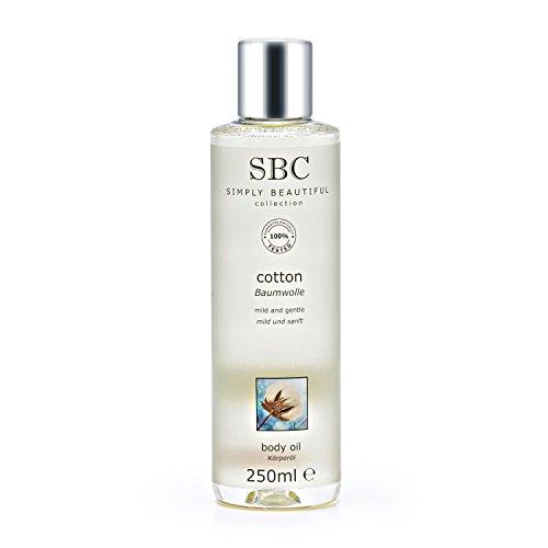 SBC gel cotone olio per il corpo, 250ml