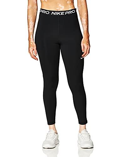 NIKE W NP 365 Tight 7/8 HI Rise Leggings, Mujer, Black/(White), L