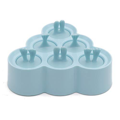 Molde portátil para helados, para paletas de hielo de grado alimenticio, para hacer bolas de helado, herramientas de complementos alimenticios, accesorios para batido de frutas (color azul B)