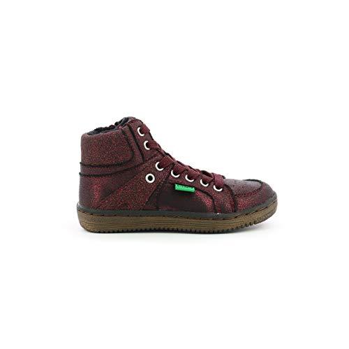 Lowell, zapatillas altas para niña., Rojo (granate), 24 EU