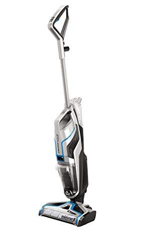Bissell 2582N CrossWave Cordless 3-in-1 Bodenreiniger (für Hartböden und Teppiche, saugt und wischt Böden gleichzeitig, kabellos, mehr als 25 Minuten Reinigungszeit, 36V Li-Ion-Akku) Silber