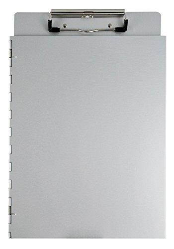 Saunders 22017 Dokumenten Klemmbrett mit seitlicher Schutzkappe, aus Aluminium, für DIN A4, Deckel als Sichtschutz, stabile Schreibplatte, seitlich öffnend