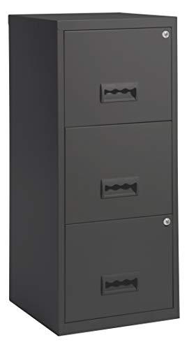 shelfmade Aktenschrank aus Metall abschließbar mit Schubladen Büroschrank für Hängeregistern in versch. Ausführungen (Dunkelgrau)