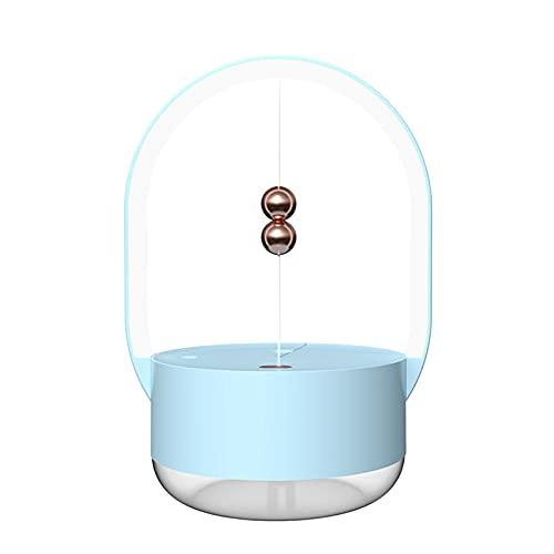 BANYANU Humidificador, Portátil Nano Spray Atomizador, 350Ml Silencio Escritorio Decorar Magnético Luz De Noche Carga USB Protección contra Cortes De Energía Suministro De Agua por Cuarto,Azul