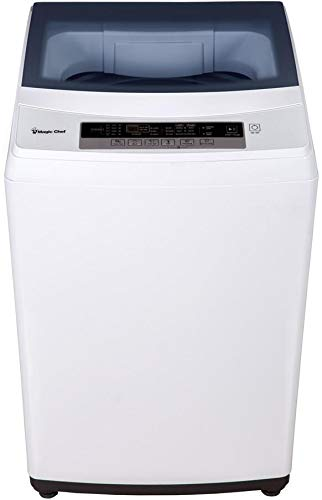 """Magic Chef MCSTCW20W5 22"""" Portable Washer with 2 cu. ft. Capacity, 6 Wash Cycles, Rollers and Delay Start in White"""