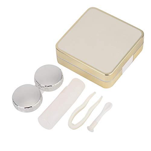 BLLBOO Tragbarer Kontaktlinse-Kasten-Aufbewahrungsbehälter kosmetische Kontaktlinsen Container Halter (weiß)
