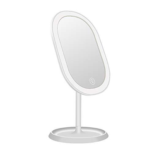 Lilingyu Make-Up Spiegel Mit Beleuchtung, Kann Frei Bei 180 ° 20 LED-Lampe Perlen Batterie 1000Mah Lithium-Polymer-Drehen Kann Durch USB Aufgeladen Werden