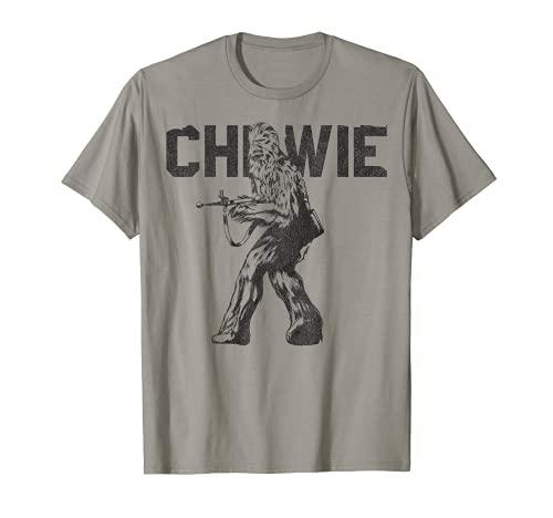 Star Wars Last Jedi Chewie Distressed Vintage T-Shirt