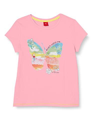 s.Oliver Junior Mädchen 403.10.005.12.130.2038478 T-Shirt, 4404 Yellow, 116/122 REG