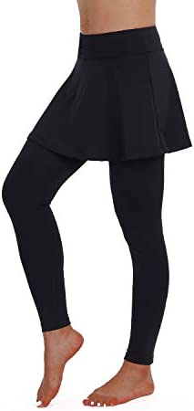 ANIVIVO Skirted Yoga Legging for Women Skirted Capri Tennis Leggings Pants Tennis Clothing Legging product image
