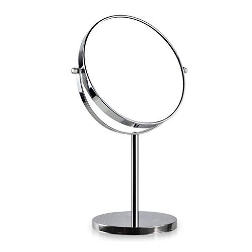 WLL Rasierspiegel, Kosmetiktisch Make-up-Spiegel Mit 1x / 3X, 360 ° Drehbar Vergrößerungsspiegel, Badezimmerspiegel Mit Kristall-ähnlichen Stil (Bright Silver) Kosmetikspiegel (Size : 8in)