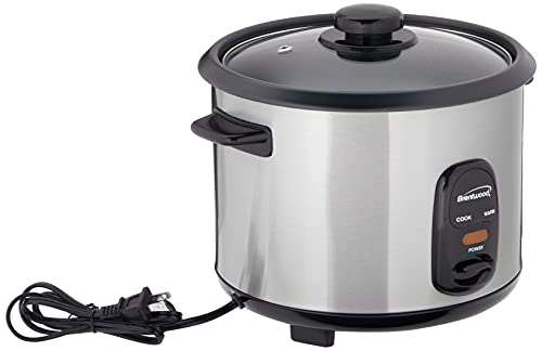 Brentwood Rice Cooker, 10-Cup, Stainless Steel