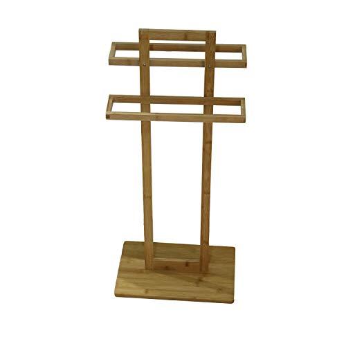 REPLOOD Porta Asciugamani da Terra In Legno Bamboo...
