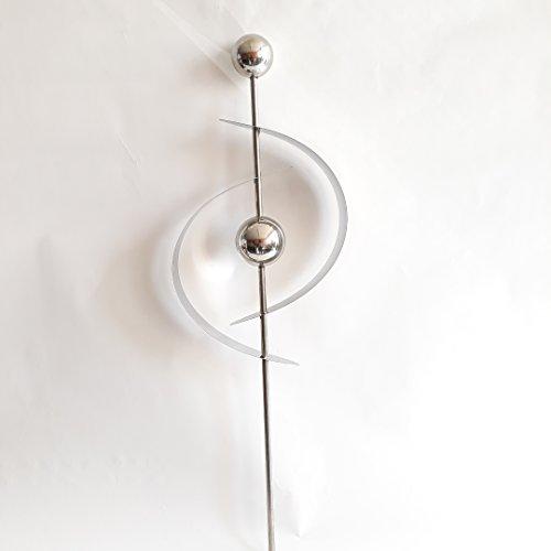 Formano Gartenstecker Bogen, Edelstahl Design, 120 cm, Gartendeko