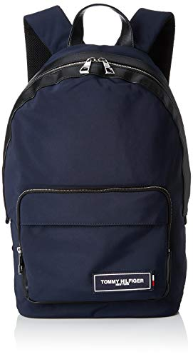 Tommy Hilfiger Herren Th Patch Backpack Rucksack Blau (Tommy Navy/Black)