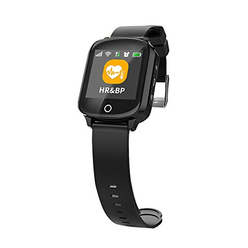 ZMDHLY Smart Watch - Heart Monitor with Falling Alarm, Anti-Lost GPS + Lbs + WiFi Tracking iOS Smart Watch,Black