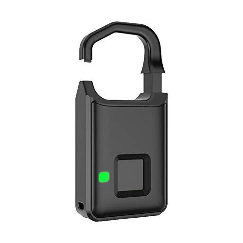 WYZXR Smart huella digital candado bloqueo biométrico dedo impresión seguridad táctil sin llave antirrobo USB carga para gimnasio/casillero/equipaje