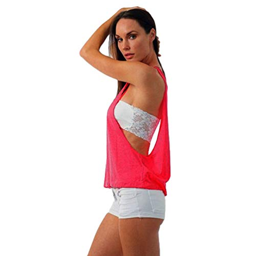 LaoZan Dames Sportkleding Strappy Mouwloos Vest Yoga Pilates Gym Kleding Top T-Shirt