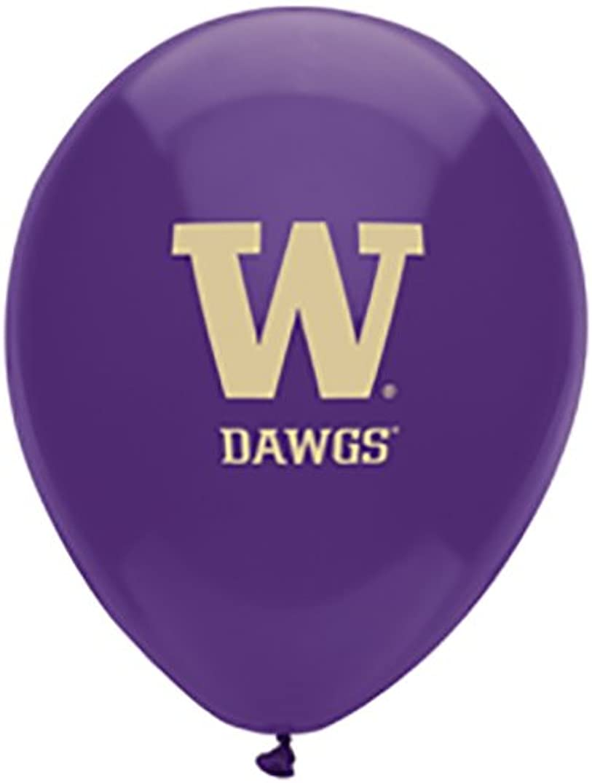 Pioneer Balloon Company 10 Count University of Washington Latex Balloon, 11