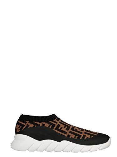 FENDI Luxury Fashion Herren 7E1254A7MNF17ML Braun Elastan Sneakers | Frühling Sommer 20