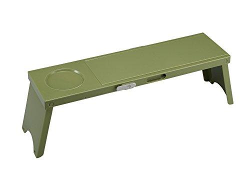 伊勢藤 アウトドア テーブル Picno (ピクノ) 1台入り グリーン 組立時:約幅12×奥行41.7×高さ13cm I-569-1