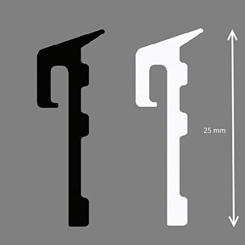 Meterware Gummi Fensterbankdichtung für Aluminium Fensterbank Dichtband EPDM Anschlussdichtung Anschlussdichtband weiß