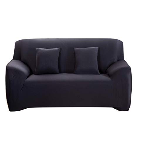 Dirgee Sofá Funda fácil Ajuste Estiramiento sofá sofá Negro Cubierta Negro 2 plazas (Color : Coffe, Size : Medium)