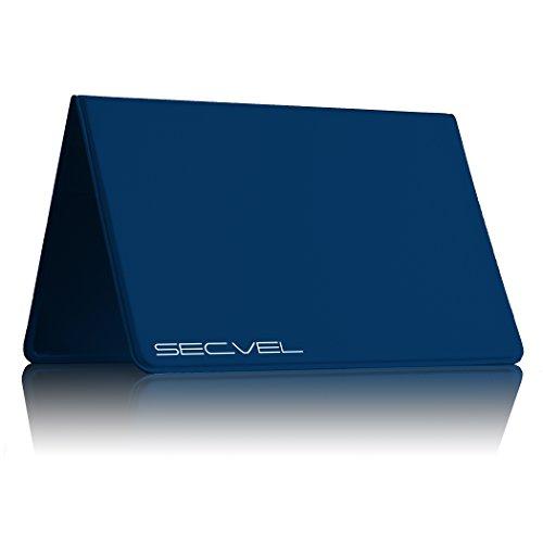 Couverture de Protection testée et brevetée par Le TÜV Protection de Carte pour 6 Cartes CF+ Bleu | RFID NFC Blocker | Blindage de Champ magnétique | Brouilleurs pour Carte Protection Active à 100%