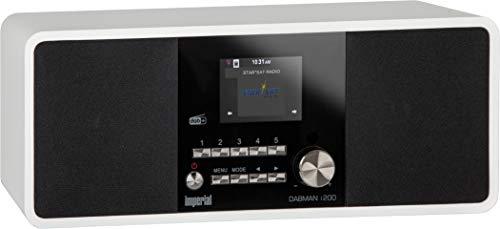Imperial 22-232-00 Dabman i200 Internet/DAB+ Radio (Stereo Sound, UKW, WLAN, LAN, Aux-In, Line-Out, Kopfhörer Ausgang inkl. Netzteil) weiß