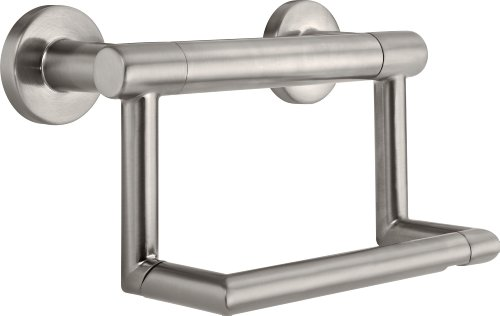 Delta Faucet 41550-SS Contemporary Tissue Holder/Assist Bar, Stainless